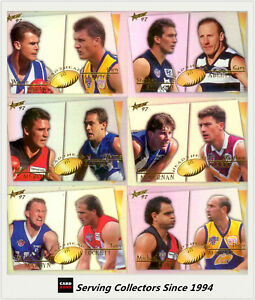 1997-Select-Ultimate-AFL-Cards-Series-Head-To-Head-Card-Full-Set-12-cards