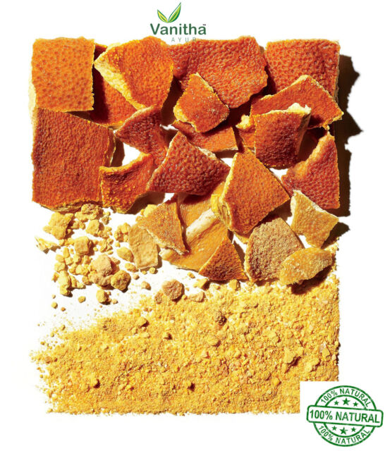 Orange Peel Powder - 100% pure & Chemical Free Skin Cleanser - 80 gm - free ship