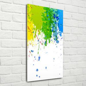 Wandbild-Kunst-Druck-auf-Hart-Glas-hochkant-70x140-Abstrakter-Regenbogen