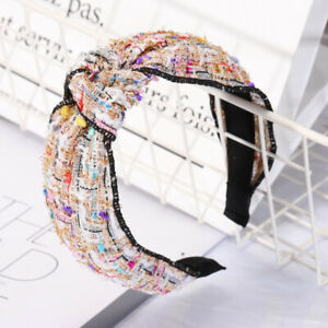 Hairband-Fabric-Knot-Chic-Tie-Accessories-Bands-Hair-Headband-Women-039-s-Hoop-Cross