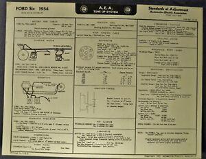 1954 Ford Six Tune Up Chart Wiring Diagram Mainline Customline Wagon  Original 54 | eBayeBay