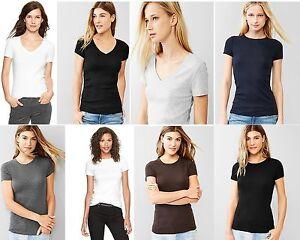 Gap Womens Favorite Short Sleeve Tee T Shirt V Neck Or