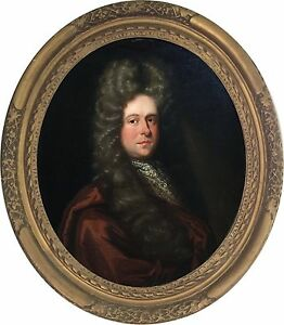 Portrait-of-a-Gentleman-Antique-Oil-Painting-Sir-Godfrey-Kneller-1646-1723