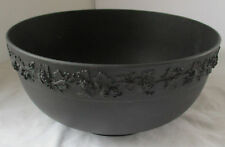 WEDGWOOD BLACK BASALT LARGE BOWL WITH GRAPEVINE DESIGN