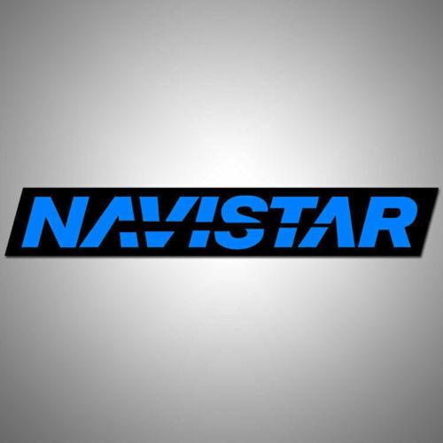 "Navistar Defense vinyl decal sticker 6.0/"" x 1.0/"" dual colors blue black"