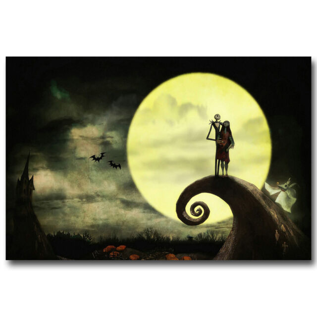 "The Nightmare Before Christmas Tim Burton Movie Art Silk Poster 12x18 24x36/"" 006"