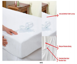 Cotton-Terry-Hypoallergenic-Mattress-Protector-100-Waterproof-Fitted-Cover