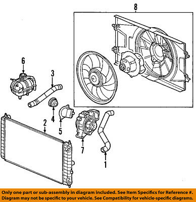 7 Blade Radiator Cooling Fan Motor Shroud 22695586 for 03-04 Saturn Ion