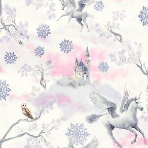 Fees-Licorne-Papier-Peint-Lilas-Arthouse-667801-Neuf-Filles-Paillette-Effet