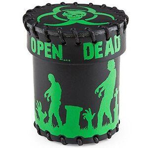 Coupe à dés zombie en cuir noir