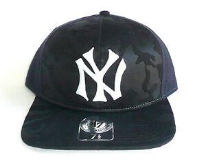 NY NEW YORK YANKEES  47 Brand BOLTON PRO Camo Flat Brim Hat (Sz 7 3 ... b2519a95368