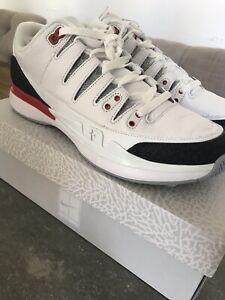 f850612b28f1 Nike Zoom Vapor RF x AJ3 Sz 11 Fire Red Air Jordan 3 Roger Federer ...
