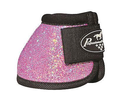 Pink GLITTER Medium Professionals Choice Horse Over-Reach Bell Boots