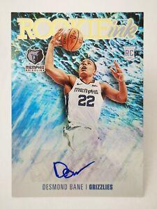 Panini Hoops 2020-21 N20 NBA Desmond Bane Rookie Auto RC Card #RI-DBN Grizzlies