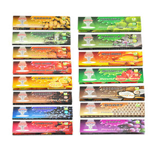 5-Fruit-250-Leaves-Flavored-Smoking-Cigarette-Hemp-Tobacco-Rolling-Papers
