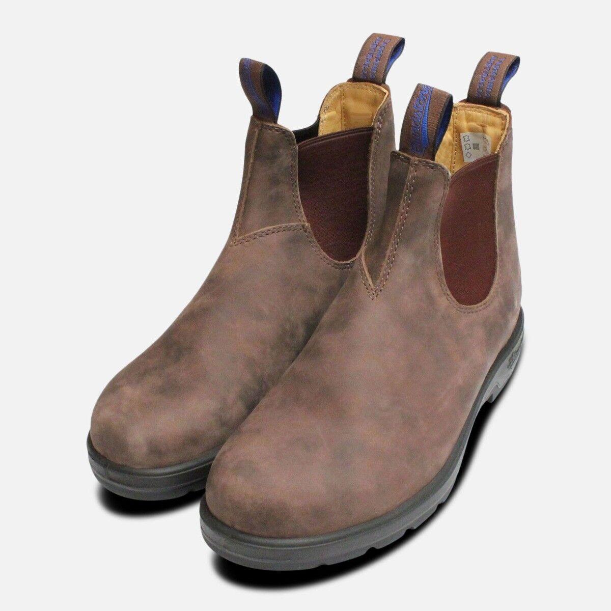 Aislado y Resistente al Agua Marrón Rústico botas de azulndstone