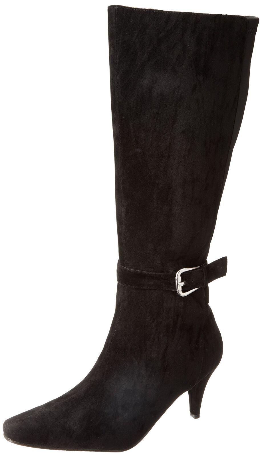 Annie zapatos para mujer Valetta Bota Negro Terciopelo Gamuza negro STRETCH nos 7 C