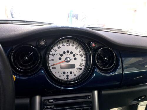 2001-2006 BMW MINI Cooper//S//ONE R50 R52 R53 BLACK Interior Dial Trim Kit 12pc.