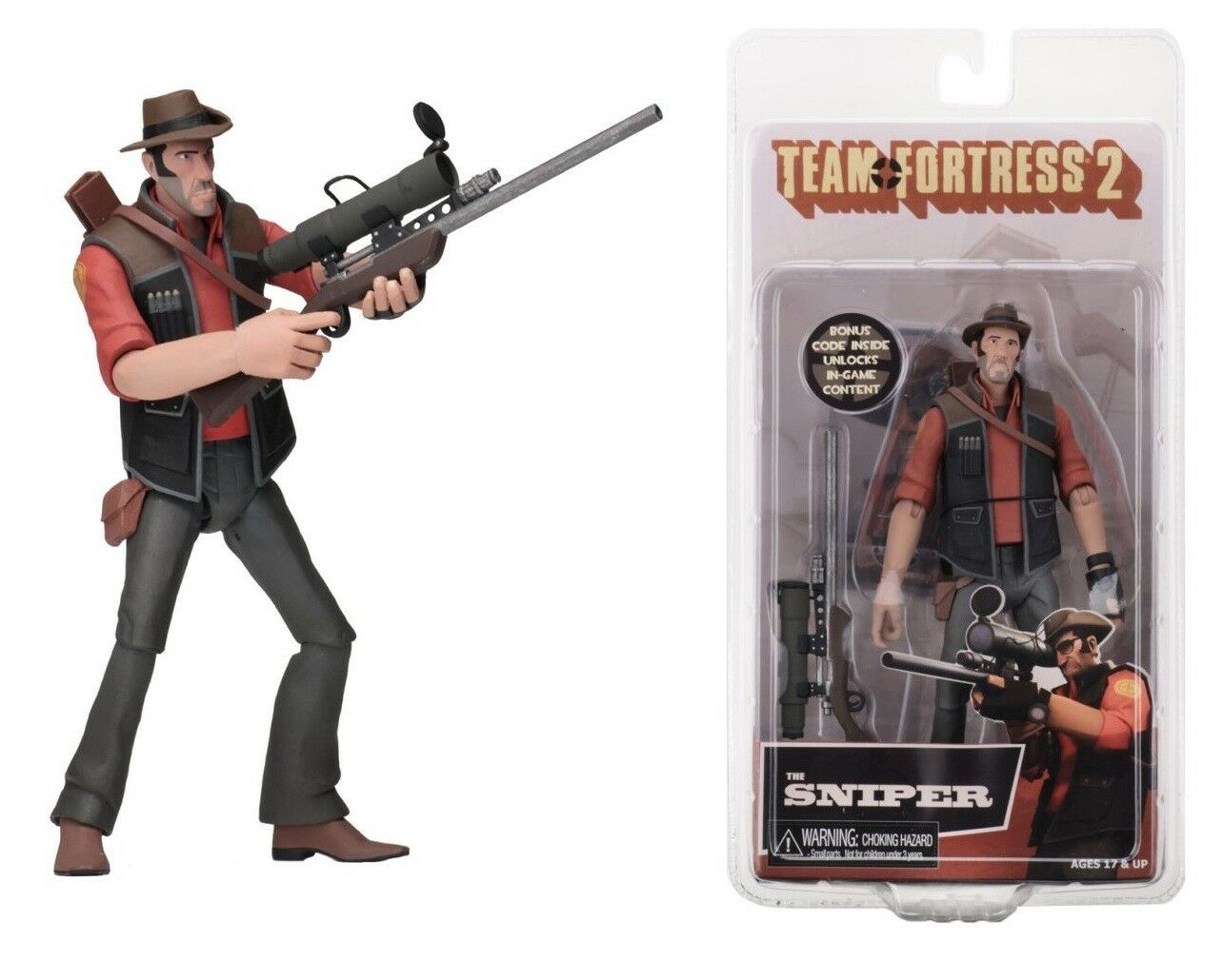 NECA Team Fortress 2 rot Sniper Series 4 Action Figure IN STOCK