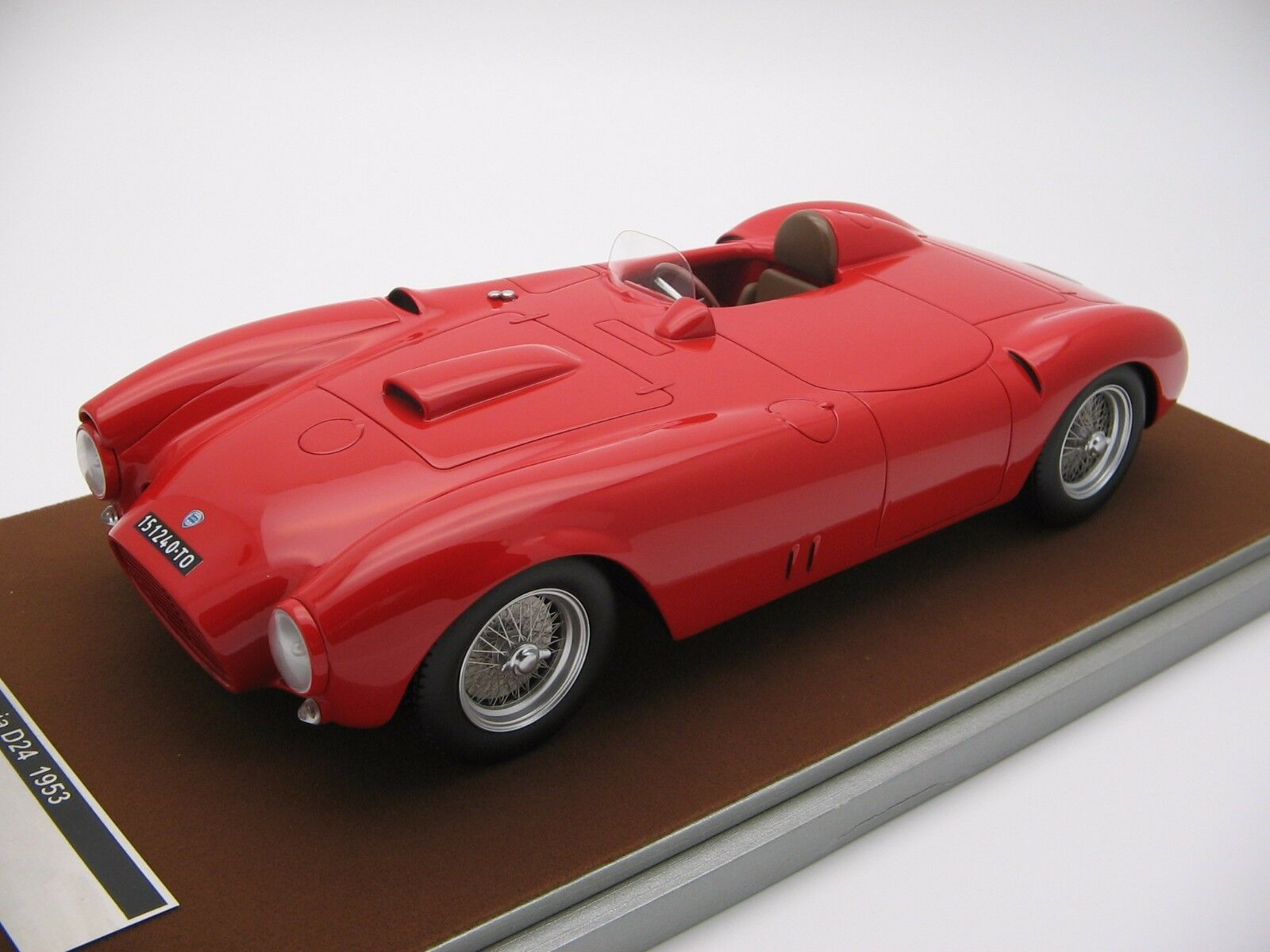 1 18 scale Tecnomodel Lancia D24 Spyder Spyder Spyder press red 1953 - TM18-43A 0a6c8f