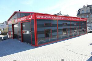 ISOLIERTE STAHLHALLE / LAGERHAUS 15 X 20 X 5 /6,5 m