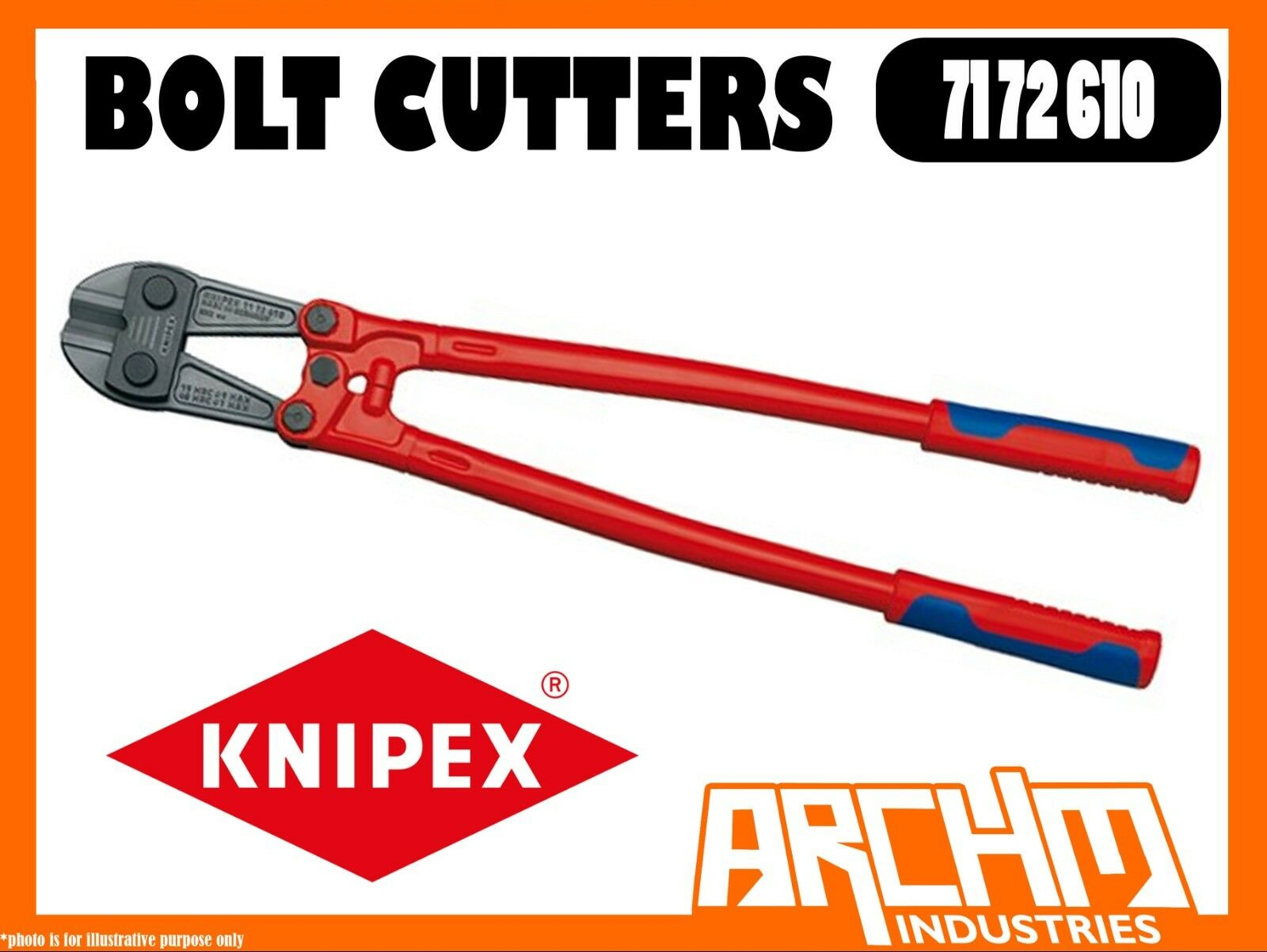 KNIPEX 7172610 - BOLT CUTTERS - 610MM - 48 HRC ROBUST CUTTING EDGES STEEL