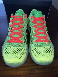 9f9d87b8eebe Nike Kobe 10 X Elite Coal Hearted Grinch ID QS Size 11.5 NIKE ID ...