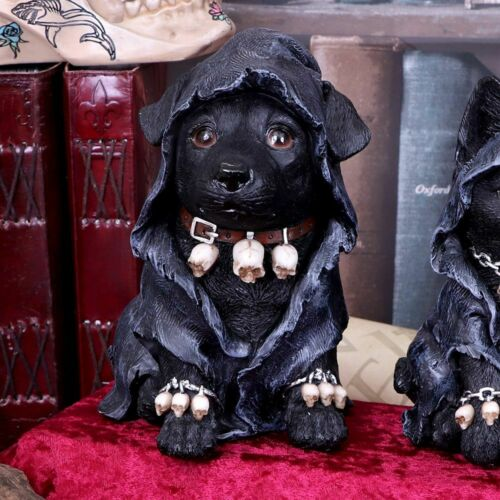 Reapers Canine Dog Figure Cloaked Grim Reapers Dog By Nemesis Now