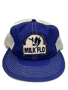 vintage kbrand milk flo patch trucker mesh farming dairy