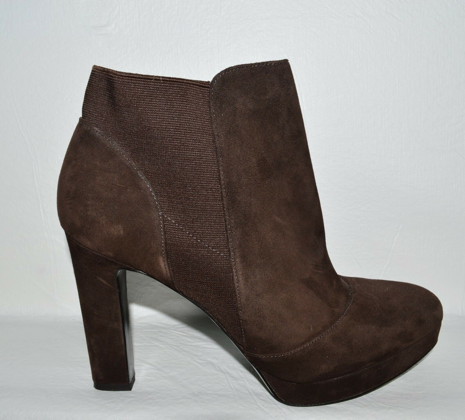VIA SPIGA NEW  275 SZ 10 M BROWN SUEDE PLATFORM ANKLE BOOTS HIGH HEEL BOOTIES