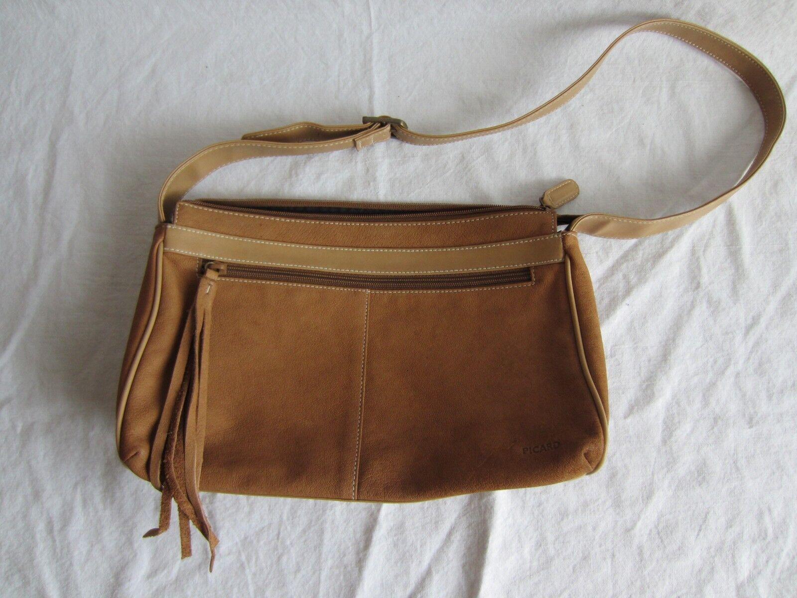 3a5e9bf9d19de PICARD Handtasche braun braun braun 27x17 cm guter Zustand Tasche Echt Leder