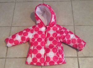 4ec461c588d31 Image is loading HEALTHTEX-BABY-GIRLS-PINK-WHITE-DOTS-WINTER-JACKET-