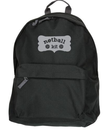 Netball Kit Sac à dos Ruck Sack taille 31x42x21cm