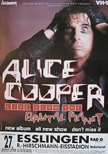"""ALICE COOPER TOURPOSTER / TOUR POSTER / TOURPLAKAT """"BRUTAL PLANET TOUR"""""""