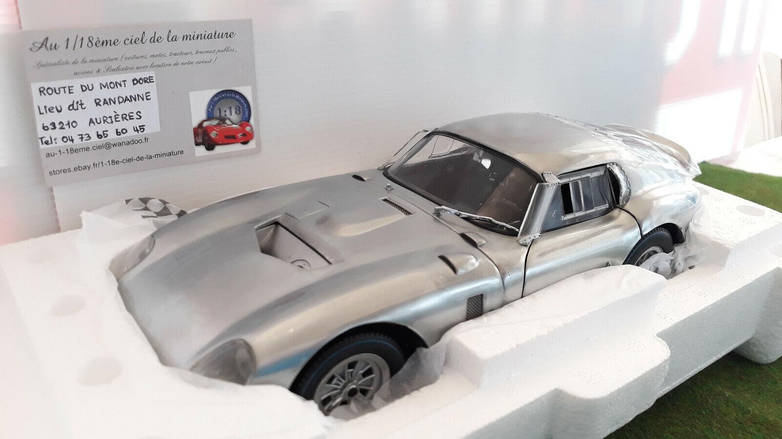 COBRA DAYTONA Coupé 1964 Aluminium mat 1 18 EXOTO 18008 voiture miniature