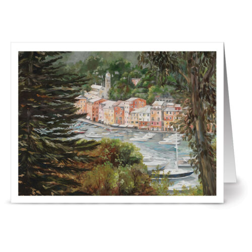 6 Designs Painted Italian Landscapes 72 Note Cards Ivory Envs