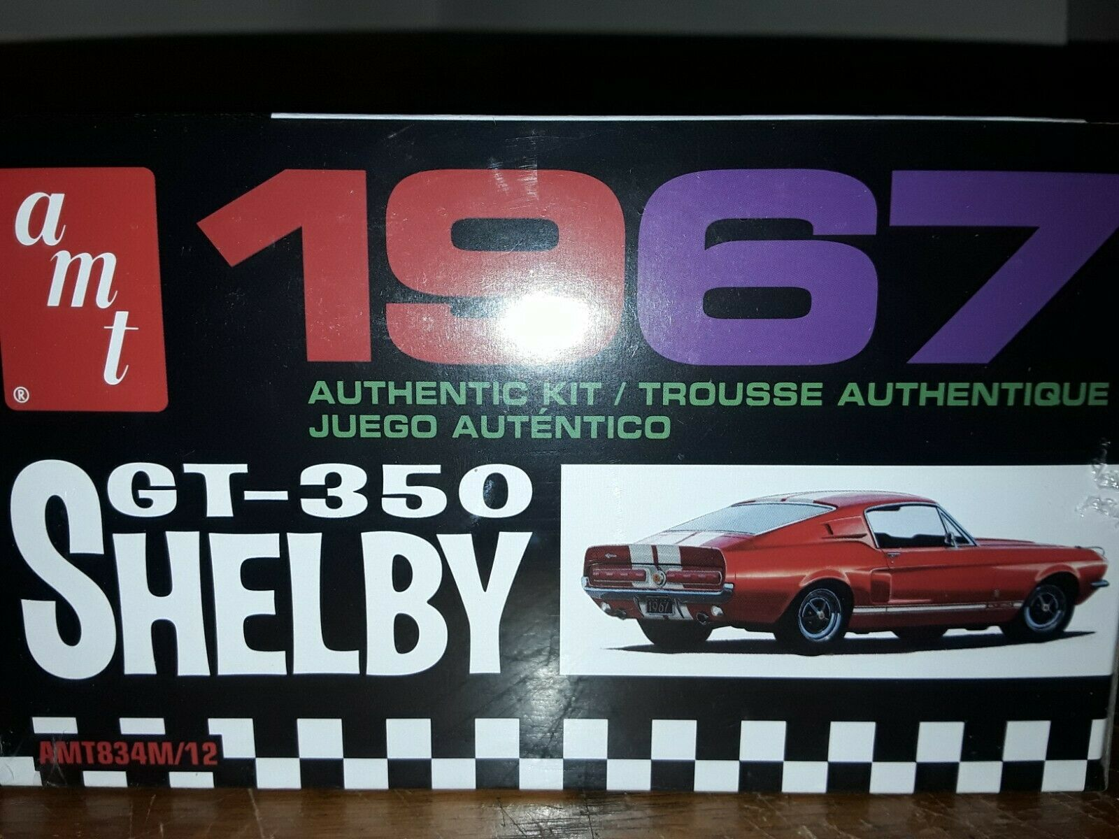 Skill 2 Model Kit 1967 Ford Mustang Shelby Gt350 Black 1 25 Scale Amt Amt834 M For Sale Online Ebay