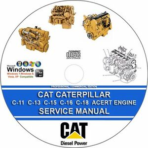 heavy equipment parts & accessories caterpillar c13 truck engine electrical  wiring schematic service manual repair