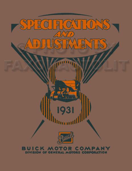 1931 Buick Manuale Di Negozio 31 Riparazione E Service Tutti I Modelli Serie 50 Saldi Di Fine Anno