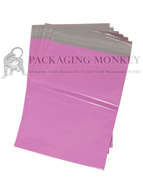 STRONG PINK POSTAGE POSTAL PLASTIC MAILING MAILER BAGS ALL SIZES   QTY'S