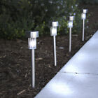 Best Choice Products 24 White Color Solar Power Stainless Steel LED Lights