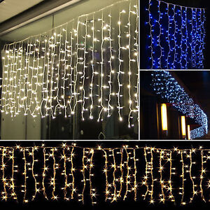Drape String Lights Ceiling : 3M*1M 150LED Icicle Hanging Curtain Fairy Lights String Christmas Outdoor Garden eBay
