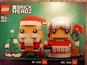 LEGO-BRICK-HEADS-40274-MR-amp-MRS-CLAUS-NUOVO-NEW-MAI-APERTO-NEVER-OPENED