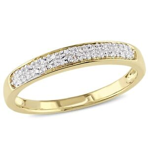 1//10 cttw, G-H,I2-I3 Size-5.5 Diamond Wedding Band in 14K Pink Gold