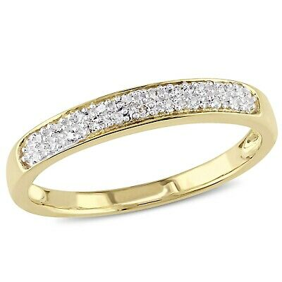 G-H,I2-I3 Size-8.25 Diamond Wedding Band in 10K Pink Gold 1//10 cttw,