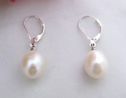Riz blanc perle Boucles d/'oreilles-Argent 925 leve de retour