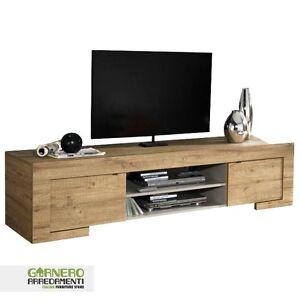 Mobile porta tv moderno milano rovere miele sala soggiorno for Mobile moderno sala
