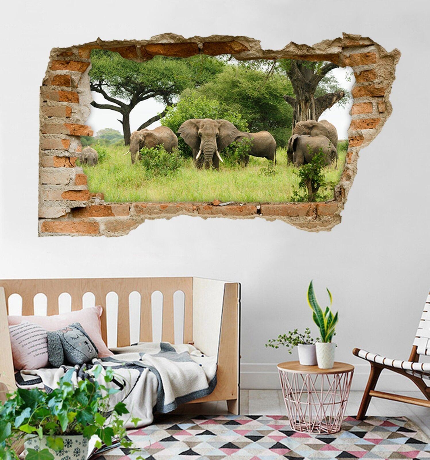 3D Elefanten 299 Mauer Murals Mauer Aufklebe Decal Durchbruch AJ WALLPAPER DE