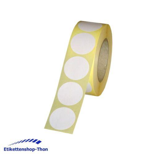 Durchmesser 30 mm 1000 Stück weiß Verschlussetiketten auf Rolle ablösbar