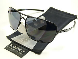 Oakley-Plaintiff-Squared-Black-Polarized-Sonnenbrille-Pilotenbrille-Inmate-Taper